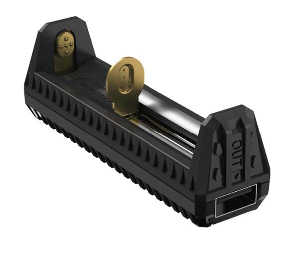 Cargador NITECORE F-1 p/bateria auxiliar portatil USB 1 slot