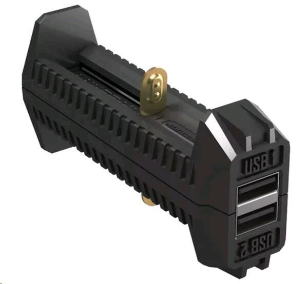 Cargador NITECORE F-2 p/bateria auxiliar portatil USB 2 slot