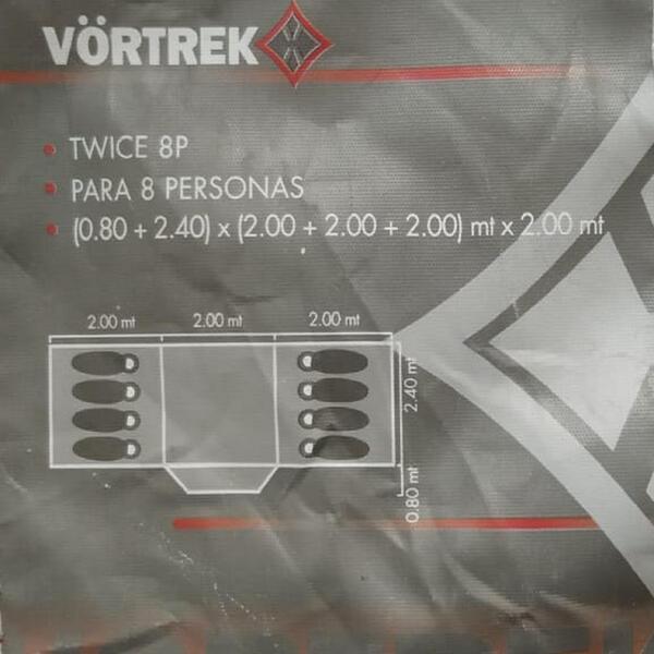 Carpa iglu Vortrek TWICE 8 personas