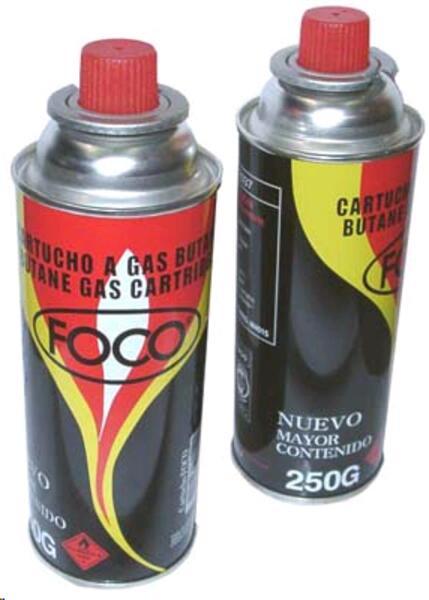 Cartucho de gas Foco butano 250 grs.