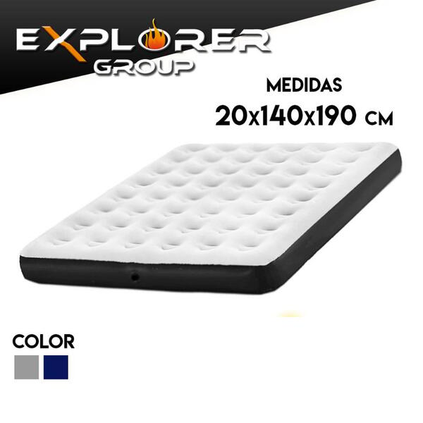 Colchon inflable Explorer 2 plaza 191x137x22 67408