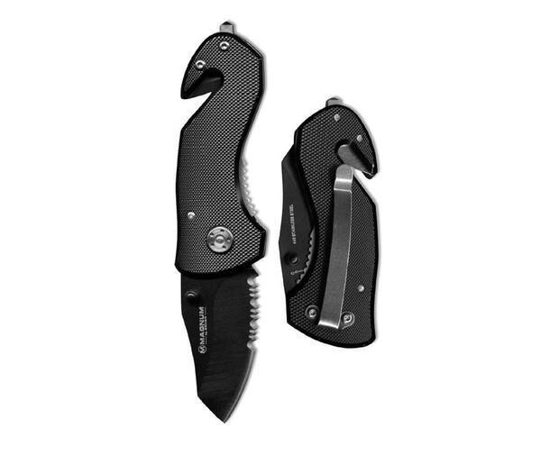 Cortapluma Rescate cachas de aluminio negra 01MB456-A hoja 5 cm