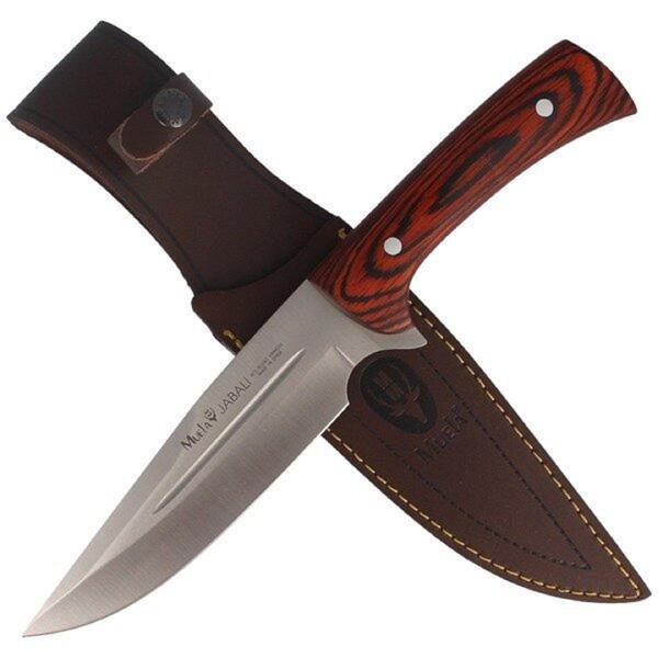 Cuchillo Muela JABALI-17E cachas madera hoja 17 cm.