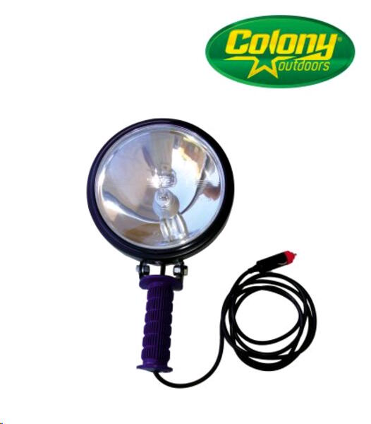 Farol de Iodo Colony David caza mayor c/pinza para bateria 12 Volt