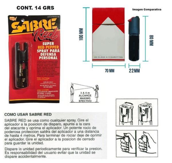 Gas de defensa Sabre Mod: SPKCR-14-OC 14 gr