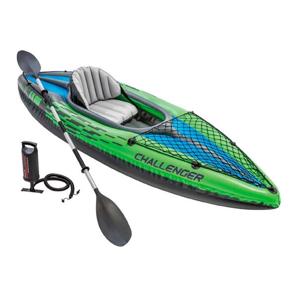 Kayak inflable Intex Challenger K1 New 274 X 76 X 38 CM + Inflador+1 Remo