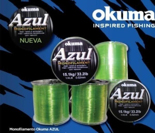 Monofilamento Okuma Azul 0.26mm x 100m gris niebla