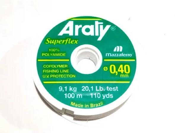 Nylon Araty superflex 0.40 X 100 Mt. natural