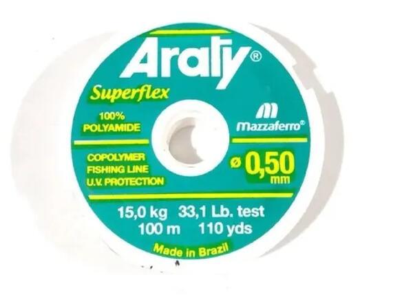 Nylon Araty superflex 0.50 X 100 Mt. natural