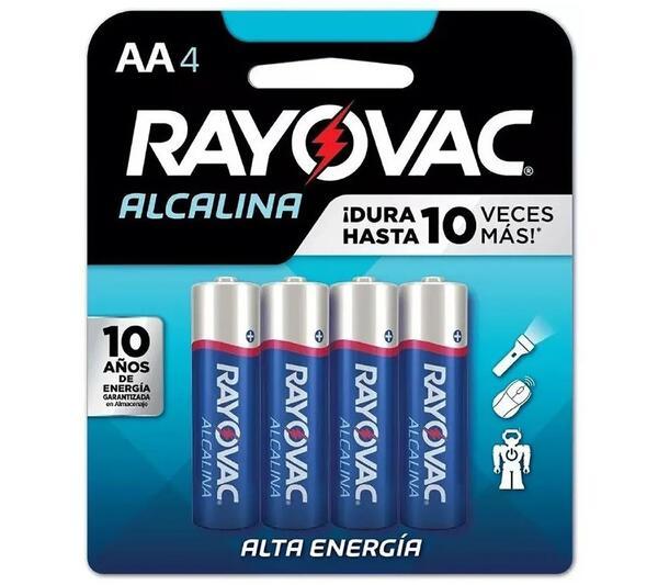 Pila Alcalina Rayovac (AA) Blister X 4 R8154